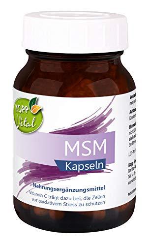 Kopp Vital MSM | Kapseln - vegan | 88,2 g | 120 Kapseln | mit Vitamin C | Nahrungsergänzungsmittel | Hergestellt in Deutschland