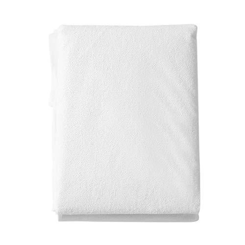Cómoda Funda de colchón Impermeable y Transpirable Que Protege la sábana de Cama Profunda, Blanca, 150 * 190 * 20 cm