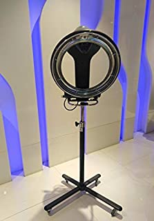 Salon Classic Circle Ring Infrared Hair Color Processor Hair Dryer with Rolling Floor Stand Base