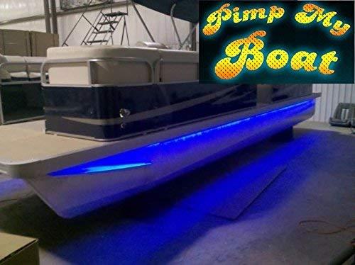 Green Blob Outdoors Pimp My Pontoon LED Boat Deck Lighting Kit with Bonus Red & Green Navigation Lights DIY Pontoon Under Deck Lighting kit for Pontoon Boats (Blue, 20)