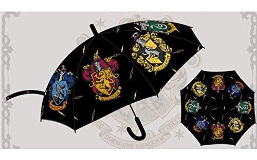 HARRY POTTER 48,5cm Paraguas Acampada y Senderismo Infantil, Juventud Unisex, Multicolor (Multicolor), Talla Única