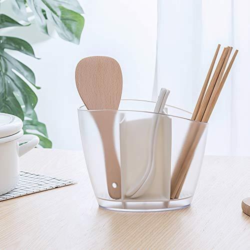 Qisiewell Scatola portautensili da Cucina in plastica Premium Bianca