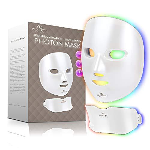 Project E Beauty Drahtlose 7 Farbe LED Maske Hals Photon Licht Hautverjüngung Therapie Gesichts Hautpflege Maske