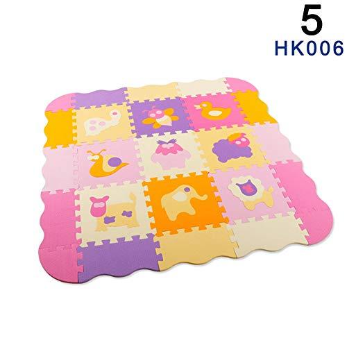 Supertop 36 Piezas Pop Out Puzzle Mat Beb/é Interlocking Soft Foam Floor Mats Baldosas para el Suelo Juego para Ni/ños Mat Mat Baby Crawling Mats con N/úmeros de Alfabetos