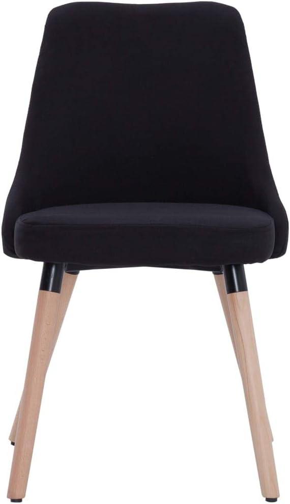 Tidyard Lot de 2 Chaises de Salle à Manger en Tissu Doux et Durable Style Moderne Noir 43 x 43 x 83 cm Noir