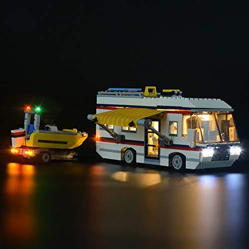 iCUANUTY Kit de Iluminación LED para Lego 31052, Kit de Luces Compatible con Lego Caravana de Vacaciones (No Incluye Modelo Lego)