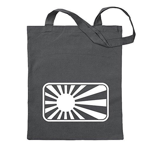 Kiwistar japanische Kriegsflagge Marine Tragetasche Baumwolltasche Stoffbeutel Umhängetasche Langer Henkel