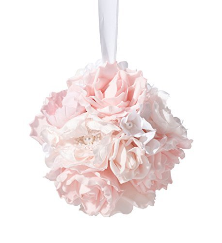 Lillian Rose Flower Ball Decoration, 5.5, Blush Pink by