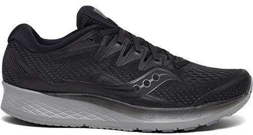 Saucony Ride ISO 2 Men's Running Shoes, Blackout, 10.5