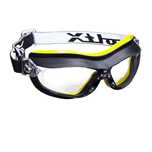 voltX DEFENDER Compact BIFOCAL ventilata Occhiali di sicurezza (Trasparente +1.5 lente), CE EN166FT certificato, Rivestimento anti-condensa. - Compact Bifocal Safety Goggles