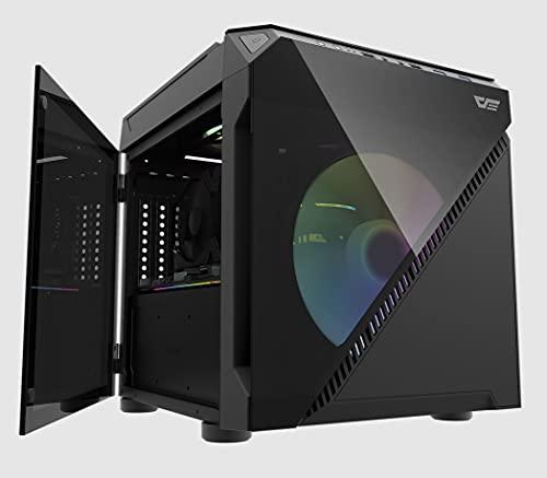 Darkflash DLC21, inklusive 2X 200mm A-RGB Lüfter, M-ATX Cube Gehäuse