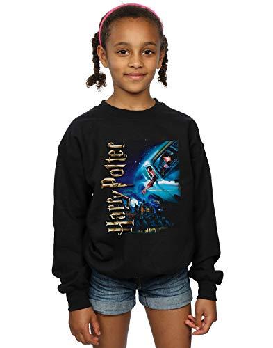 Harry Potter Mädchen Smiles at Hogwarts Sweatshirt Schwarz 9-11 Years