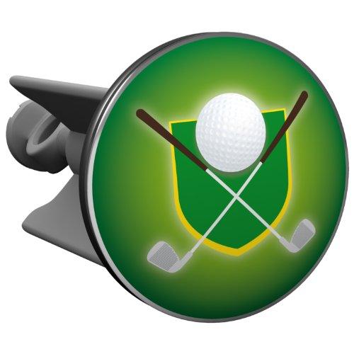 Plopp Waschbeckenstöpsel Golfwappen grün, Stöpsel, Excenter Stopfen, für Waschbecken, Waschtisch, Abfluss