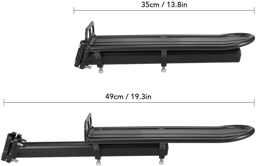 FURASTY Bicycle Luggage Rack Cycling Max 57% OFF Detroit Mall Retractable Aluminum Alloy