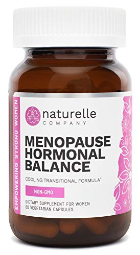 Naturelle Menopause Hormonal Balance - Natural Menopause Support Vitamins, Hot Flushes, Night Sweat Relief Supplements for Women - Boost Estrogen Levels, Ease Mood Swings - Black Cohosh Complex