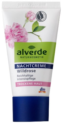 Alverde Nachtcreme Wildrose, 6er Pack (6 x 50 ml)