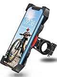 Bovon Soporte Movil Bicicleta, Anti Vibración Soporte Movil Bici Montaña con 360° Rotación para Moto Cochecito, Universal Manillar para iPhone 11 Pro Max/11 Pro/11/X/8, Samsung y 3.5'-6.5' Smartphones