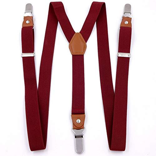SUPOOGO3 Clip 2,5 Cm Unisex Cinturino da Annodare in Acciaio Inossidabile Antiscivolo Bretelle Elastiche Britanniche per Adulti con Fiocco