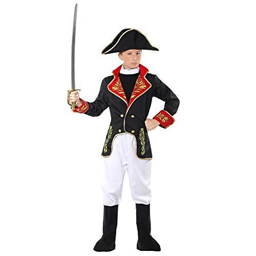 Widmann 02916 - Kinderkostüm Napoleon, Jacke, Hose, Stiefelüberzieher, Hut, Soldat