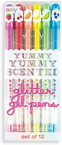 OOLY, Yummy Yummy Scented Glitter Gel Pens, Set of 12