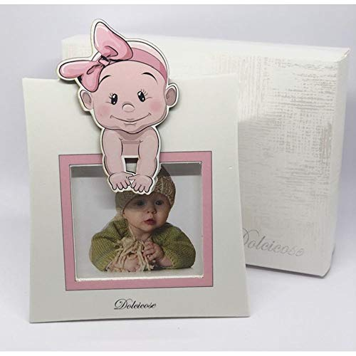 Lolita fotolijst roze met meisjes, 20 x 15 cm, gemaakt in Italië