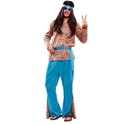 My Other Me Me-201990 Disfraz de hippie psicodélico para hombre, multicolor, M-L (Viving Costumes 201990)