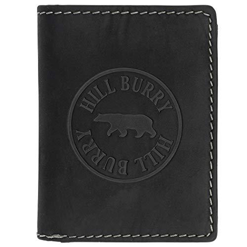 Hill Burry Herren Geldbörse Echtleder RFID Chunkyrayan 112HBE Black 1