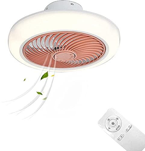 Ventilador de techo inteligente LED con luces Cambia la lámpara del ventilador de techo con velocidad de interruptor ajustable para la sala de estar de los niños Iluminación de ventilación del dormit
