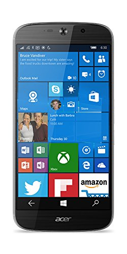 Acer Liquid Jade Primo LTE Windows 10 Phone (14 cm 5,5 Zoll AMOLED, 1920 x 1080 Full HD Pixel, Hexa-Core-Prozessor, 3GB RAM, 32GB Speicher, Windows 10 Mobile inkl. Microsoft Continuum ) schwarz