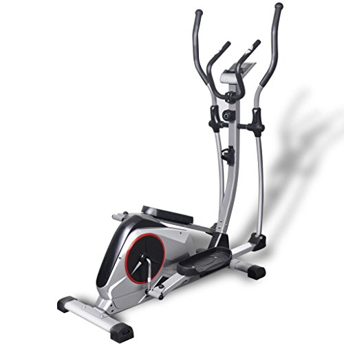 vidaXL Elliptical Trainer XL Magnetic Cross Trainer – Silver Cross Trainers (Magnetic Cross...