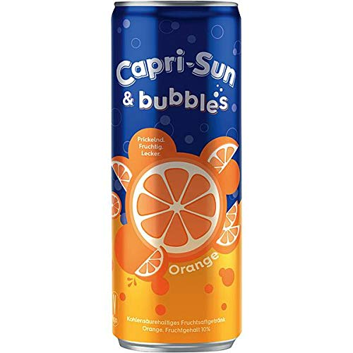 12 Dosen Capri Sun & Bubbles Orange Fruchtsaftgetränk 12 x 0,250ml Dosen inc. 3.00€ EINWEG Pfand