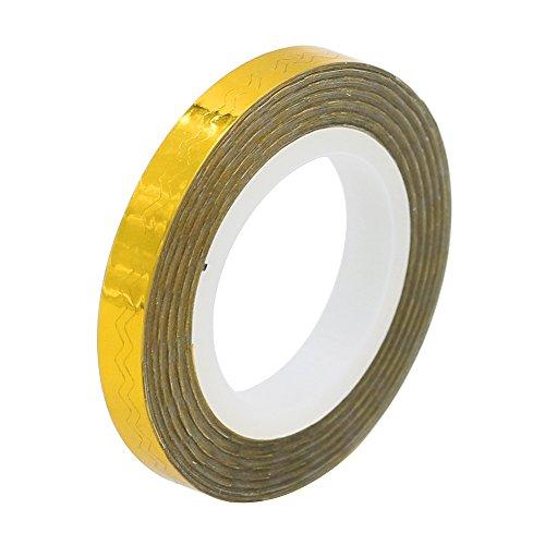 Sanwood 1 PC à ongles Rouleaux vagues Striping Tape Ligne bricolage Nail Art Tip Décoration Autocollant taille unique doré
