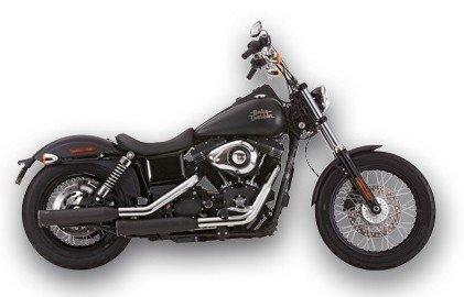 Marmitte 2 in 2 Slip-On Falcon Per Harley Davidson Dyna Nere OMOLOGATE Per Harley Davidson Dyna FXDB e FXDC dal 2006 in poi e per FXDL dal 2006 al 2009.