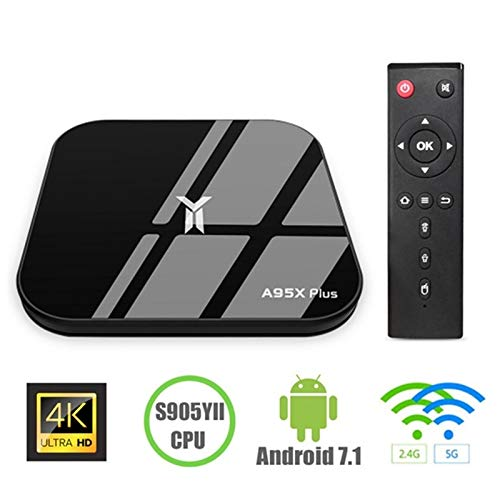 Android 7,1 TV-Box, A95X Plus Android TV-Box 4 GB DDR3 32 GB ROM WiFi 2,4 G Bluetooth Quad Core 3D 4 K Ultra HD H.265 USB 3.0 Android TV-Box