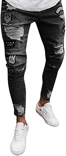 Screenes Vaqueros Slim Fit Flaco Base De Los Ocasional Pantalones Hombre Estilo Simple De Moda Los Pantalones Vaqueros Denim Elástico Lava Hombre Torn Pantalones De Mezclilla