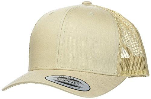 Flexfit Snapback Unisex Baseball-Mütze | Trucker Kappe Mesh Basecap, Braun (khakhi), Gr. One size