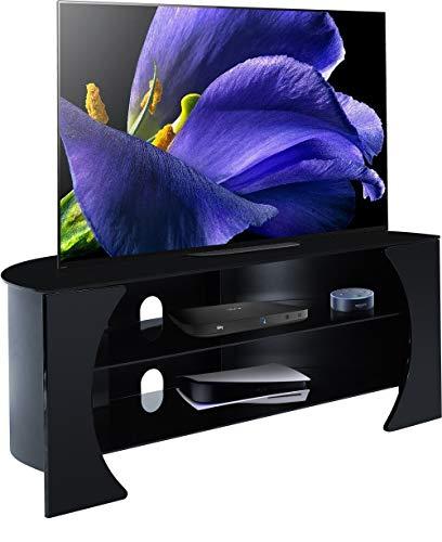 Centurion Support OXANA - Mobile TV a schermo piatto con 3 ripiani, fino a 50', colore: Nero lucido
