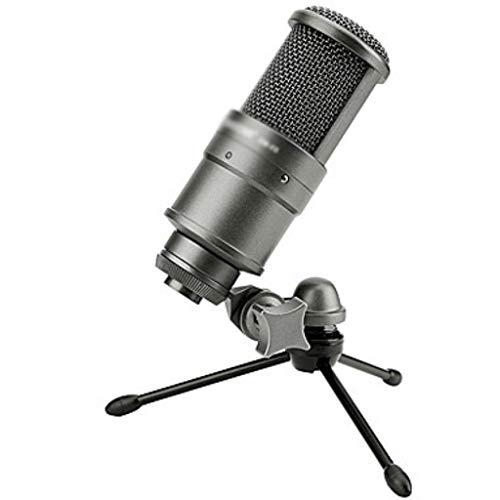 JJZXD Micrófono de Condensador transmisión y grabación micrófono transmisión en Vivo Sonido grabación de Canto