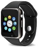 SHOPTOSHOP Genuine A1 Smart Watch Phone Camera SIM Card Pedometer (Black)