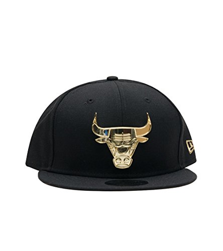 New Era Chicago Bulls 9fifty Snapback Gold Metal Badge Black - One-Size