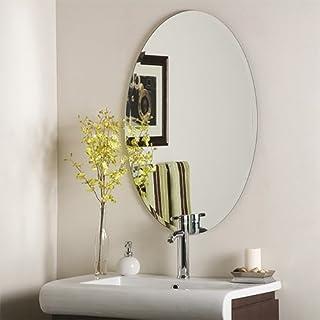 SDG Frameless Oval Bathroom Mirror M-119