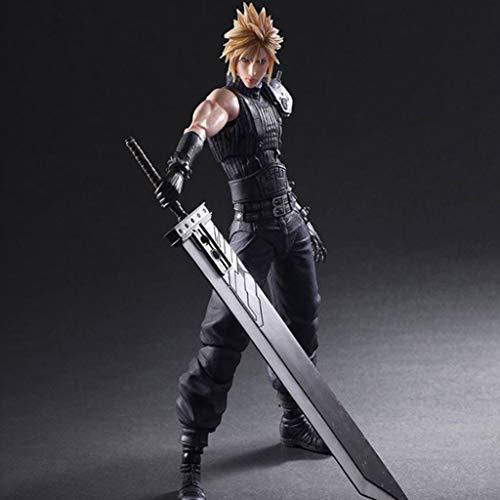 CJH Final Fantasy VII Remake Action-Figur Cloud Strife Play Arts Kai bewegliches Modell handgemachtes Geschenk Spielzeug Dekorationen aus Final Fantasy VII Peripherals Spiel Puppe Ornamente