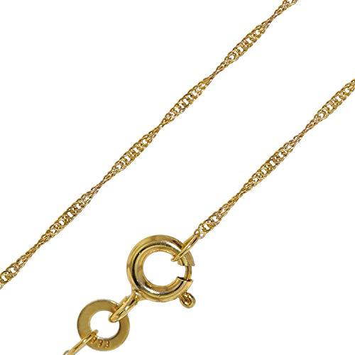 trendor Goldkette für Damen 333 Gold (8 Karat) Singapur-Muster 1,0 mm 72450 45 cm