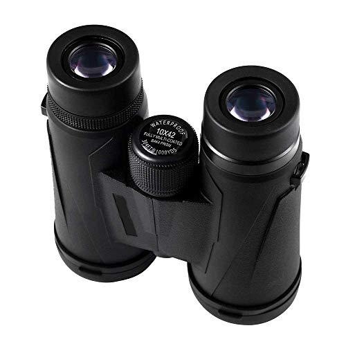 Binoculares con telescopio Telescopio ajustable Binoculares impermeables con nitrógeno Luz baja La película de fase es Binoculares plateados 10X42 Telescopio con zoom profesional para la caza de