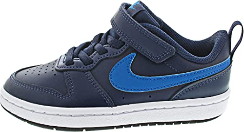 Nike Court Borough Low 2, Scarpe da Basket, Midnight Navy/Imperial Blue-Black, 31 EU