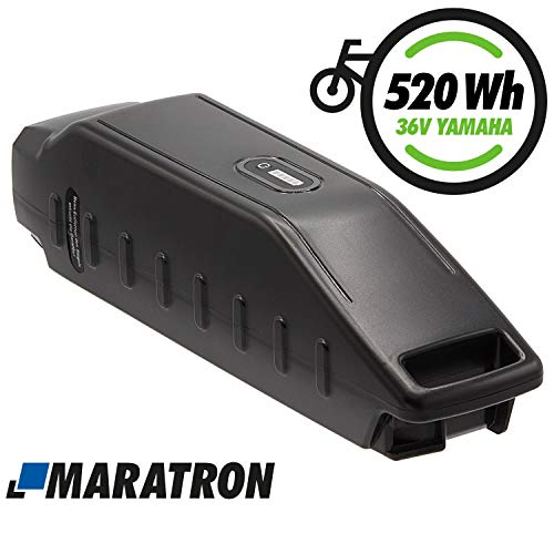Maratron E-Bike Akku 36V 14,5Ah 520Wh Li-Ion - Ersatz für Yamaha Haibike, Winora, Batavus u.a.