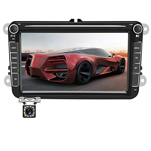 Car Radio Android GPS Navigation Stereo for VW Volkswagen Passat Golf MK5 Jetta Tiguan T5 Skoda Seat Polo Touran Double Din Car Stereo with Bluetooth 8