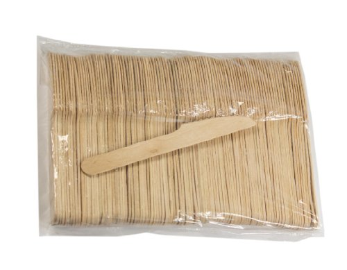 Pantryware Essentials Pantry Knive 158-100 Disposable Wooden Cutlery Knives, 0.5' Height, 1' Width,...