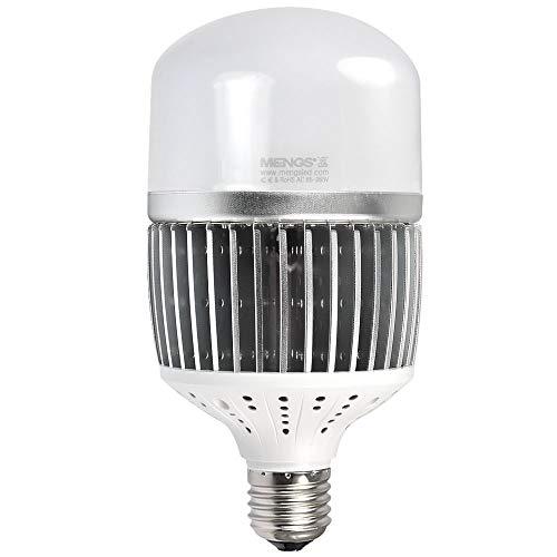MENGS CL-Q50W Bombilla LED E40 50W industria Luz LED Equivalente a 400W Blanco frío 6000K, AC 85-265V, 6500lm Globe Lámpara LED