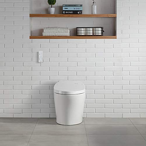 Ove Decors Lena Smart Bidet Toilet Elongated Tankless Contemporary Design, Automatic Flushing, Heated Seat with Integrated Multi Funcion Control Remote, White